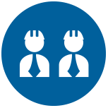 workers in hardhats icon